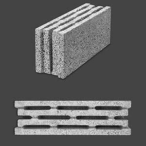 بلوک چهار جداره دیواری توخالی
